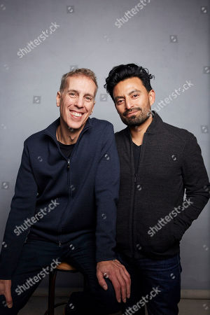 """Stock Picture of James D. Stern, Fernando Villena. Directors James D. Stern, left, and Fernando Villena pose for a portrait to promote the film """"Giving Voice"""" at the Music Lodge during the Sundance Film Festival, in Park City, Utah"""