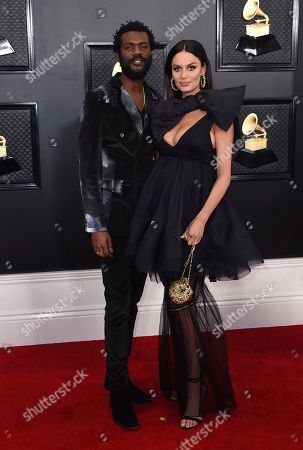 Nicole Trunfio, Gary Clark Jr. Gary Clark Jr., left, and Nicole Trunfio arrive at the 62nd annual Grammy Awards at the Staples Center, in Los Angeles