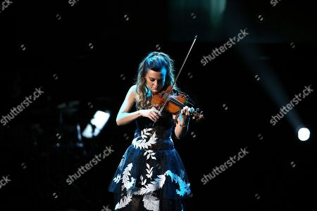 Nicola Benedetti performs at the 62nd annual Grammy Awards, in Los Angeles