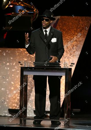 Jimmy Jam presents the award for best musical theater album at the 62nd annual Grammy Awards, in Los Angeles