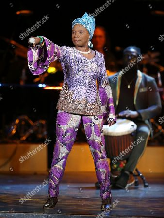 Angelique Kidjo performs at the 62nd annual Grammy Awards, in Los Angeles