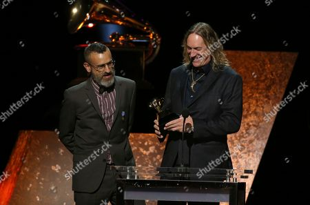 "Justin Chancellor, Danny Carey. Justin Chancellor, left, and Danny Carey of 7empest accept the award for best metal performance for ""Tool"" at the 62nd annual Grammy Awards, in Los Angeles"
