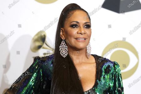 Sheila E poses in the press room during the 62nd annual Grammy Awards ceremony at the Staples Center in Los Angeles, California, USA, 26 January 2020.