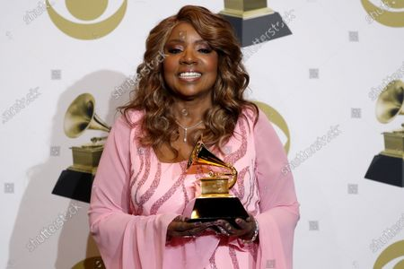 Gloria Gaynor poses in the press room with the Grammy for 'Best Roots Gospel Album' during the 62nd annual Grammy Awards ceremony at the Staples Center in Los Angeles, California, USA, 26 January 2020.
