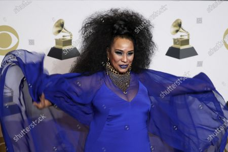 Stock Photo of Aymee Nuviola poses in the press room with the Grammy for Best Tropical Latin Album during the 62nd annual Grammy Awards ceremony at the Staples Center in Los Angeles, California, USA, 26 January 2020.