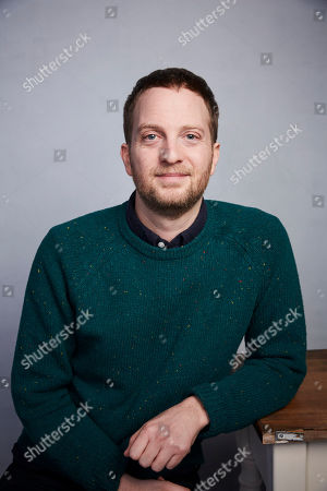 """Stock Picture of Matt Wolf poses for a portrait to promote the film """"Spaceship Earth"""" at the Music Lodge during the Sundance Film Festival, in Park City, Utah"""