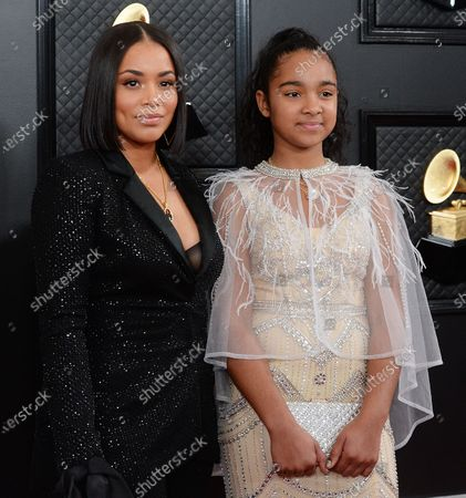 Lauren London and Emani Asghedom