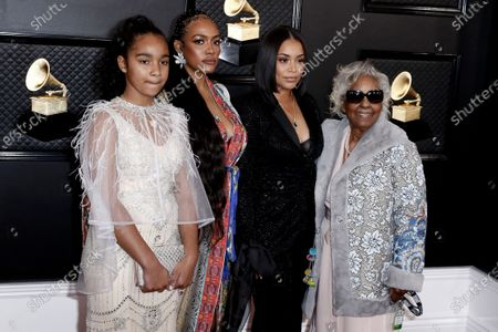 Emani Asghedom, Samantha Smith, Lauren London and Margaret Boutte arrives for the 62nd annual Grammy Awards ceremony at the Staples Center in Los Angeles, California, USA, 26 January 2020.