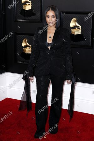 Lauren London arrives for the 62nd annual Grammy Awards ceremony at the Staples Center in Los Angeles, California, USA, 26 January 2020.