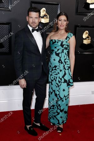 Adam Sinclair and Michelle Kath Sinclair arrive for the 62nd annual Grammy Awards ceremony at the Staples Center in Los Angeles, California, USA, 26 January 2020.