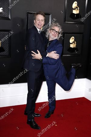 Stock Picture of Dexter Fletcher and Giles Martin arrive for the 62nd annual Grammy Awards ceremony at the Staples Center in Los Angeles, California, USA, 26 January 2020.
