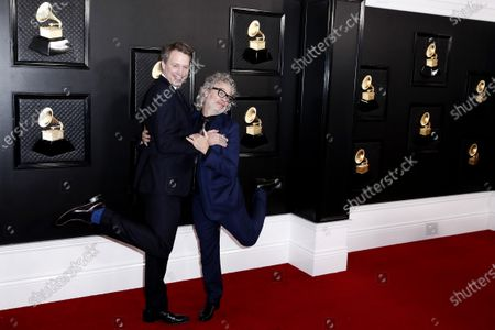 Stock Photo of Dexter Fletcher and Giles Martin arrive for the 62nd annual Grammy Awards ceremony at the Staples Center in Los Angeles, California, USA, 26 January 2020.