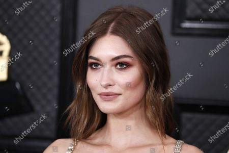 Grace Elizabeth arrives for the 62nd annual Grammy Awards ceremony at the Staples Center in Los Angeles, California, USA, 26 January 2020.