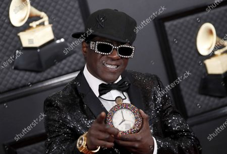 Flavor Flav arrives for the 62nd Annual Grammy Awards ceremony at the Staples Center in Los Angeles, California, USA, 26 January 2020.