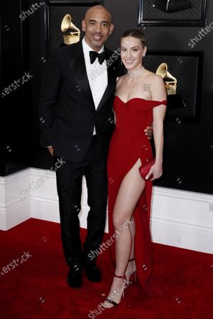 Harvey Mason Jr... and Britt Burton arrive for the 62nd Annual Grammy Awards ceremony at the Staples Center in Los Angeles, California, USA, 26 January 2020.