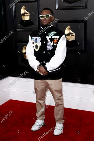Hit-Boy arrives for the 62nd Annual Grammy Awards ceremony at the Staples Center in Los Angeles, California, USA, 26 January 2020.