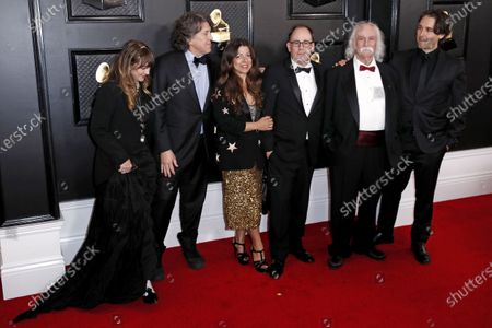 Cameron Crowe, Michele Farinola, Greg Mariotti, David Crosby and others arrive for the 62nd Annual Grammy Awards ceremony at the Staples Center in Los Angeles, California, USA, 26 January 2020.