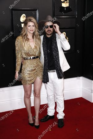 Stock Photo of Lauren Myers and Tim Myers arrive for the 62nd annual Grammy Awards ceremony at the Staples Center in Los Angeles, California, USA, 26 January 2020.