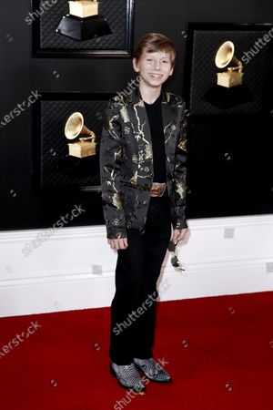 Mason Ramsey arrives for the 62nd Annual Grammy Awards ceremony at the Staples Center in Los Angeles, California, USA, 26 January 2020.