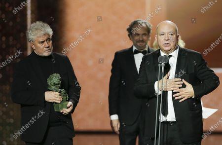 Pedro Almodovar, Agustin Almodovar and Jose Coronado
