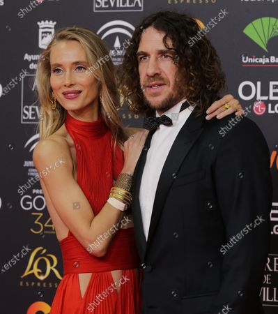 Carles Puyol and wife