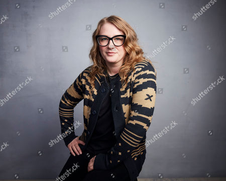 """Stock Picture of Mel Eslyn poses for a portrait to promote the film """"Horse Girl"""" at the Music Lodge during the Sundance Film Festival, in Park City, Utah"""