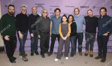 Stock Image of Join Penn, Paul Mezy, Matt Greenfield, Searchlight Pictures Chairman Steve Gilula, Director Ben Zeitlin, Devin France, Becky Glupczynski, Michael Gottwald and David Greenberg