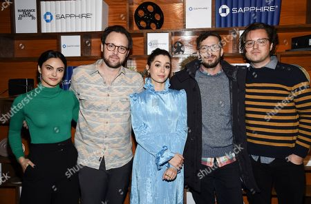 Camila Mendes, Andy Siara, Cristin Milioti, Andy Samberg, Max Barbakow. Camila Mendes, left, Andy Siara, Cristin Milioti, Andy Samberg and Max Barbakow pose at Chase Sapphire on Main during the Sundance Film Festival presented by Chase Sapphire, in Park City, Utah