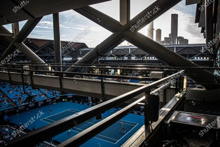A general view of Margaret Court stadium during the women's singles fourth round match between Anastasia Pavlyuchenkova of Russia and Angelique Kerber of Germany at the Australian Open Grand Slam tennis tournament in Melbourne, Australia, 27 January 2020.