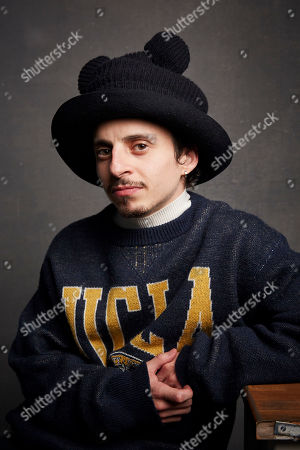 """Stock Picture of Moises Arias poses for a portrait to promote the film """"Blast Beat"""" at the Music Lodge during the Sundance Film Festival, in Park City, Utah"""
