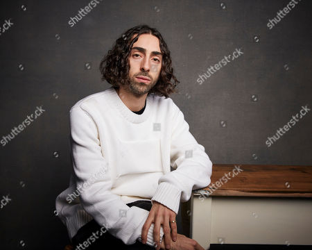"""Mateo Arias poses for a portrait to promote the film """"Blast Beat"""" at the Music Lodge during the Sundance Film Festival, in Park City, Utah"""