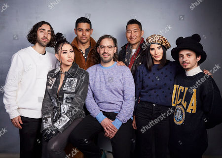 "Mateo Arias, Kali Uchis, Wilmer Valderrama, Esteban Arango, Daniel Dae Kim, Diane Guerrero, Moises Arias. Mateo Arias, from left, Kali Uchis, Wilmer Valderrama, writer/director Esteban Arango, Daniel Dae Kim, Diane Guerrero and Moises Arias pose for a portrait to promote the film ""Blast Beat"" at the Music Lodge during the Sundance Film Festival, in Park City, Utah"