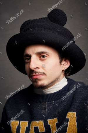 """Moises Arias poses for a portrait to promote the film """"Blast Beat"""" at the Music Lodge during the Sundance Film Festival, in Park City, Utah"""