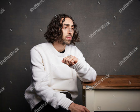 """Stock Picture of Mateo Arias poses for a portrait to promote the film """"Blast Beat"""" at the Music Lodge during the Sundance Film Festival, in Park City, Utah"""