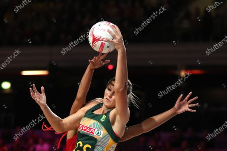 Stock Photo of Lenize Potgieter of South Africa and Stacey Francis of England Roses in action