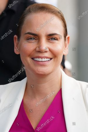 Jelena Dokic of Australia takes part in the Legends All Access Hour at the Australian Open tennis tournament at Melbourne Park in Melbourne, Australia, 27 January 2020.