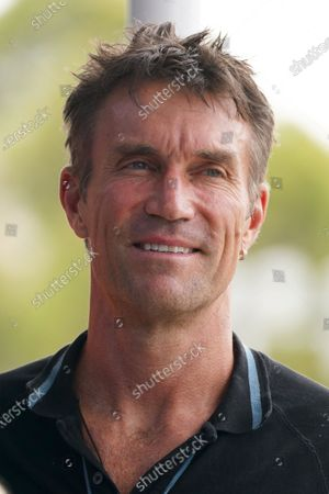Pat Cash of Australia takes part in the Legends All Access Hour at the Australian Open tennis tournament at Melbourne Park in Melbourne, Australia, 27 January 2020.