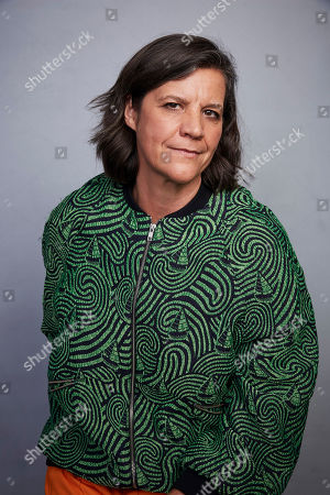 """Kirsten Johnson poses for a portrait to promote the film """"Dick Johnson Is Dead"""" at the Music Lodge during the Sundance Film Festival, in Park City, Utah"""