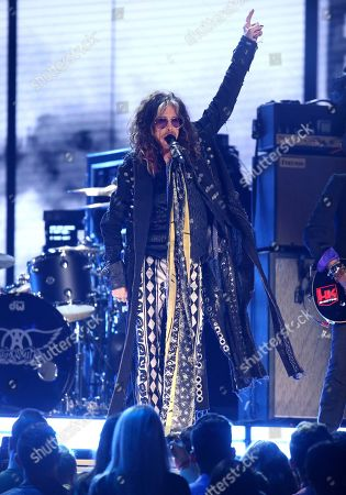 Steven Tyler, of the musical group Aerosmith, performs at the 62nd annual Grammy Awards, in Los Angeles