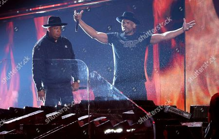 Joseph Simmons, Darryl McDaniels. Joseph Simmons, left, and Darryl McDaniels, of Run-D.M.C., perform at the 62nd annual Grammy Awards, in Los Angeles
