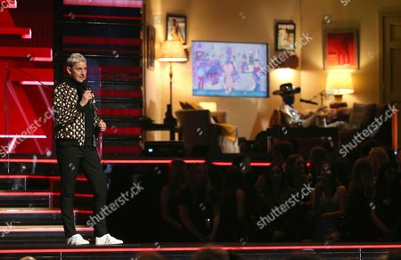 Ellen DeGeneres, Lil Nas X. Ellen DeGeneres introduces a performance at the 62nd annual Grammy Awards, in Los Angeles. At right in background is Lil Nas X