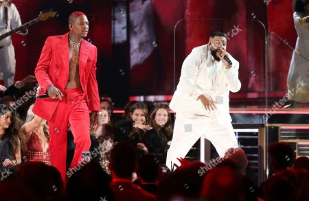 YG, DJ Khaled. YG, left, and DJ Khaled perform during a tribute in honor of the late Nipsey Hussle at the 62nd annual Grammy Awards, in Los Angeles