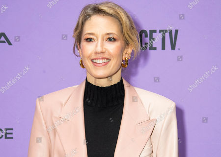 "Carrie Coon attends the premiere of ""The Nest"" at the Eccles Theatre during the 2020 Sundance Film Festival, in Park City, Utah"