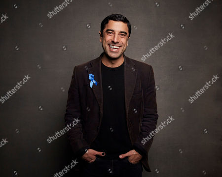 """Karim Saleh poses for a portrait to promote the film """"Luxor"""" at the Music Lodge during the Sundance Film Festival, in Park City, Utah"""