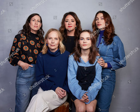 "Miriam Shor, Liz Garbus, Lola Kirke, Amy Ryan, Oona Laurence. Miriam Shor, from top left, director Liz Garbus, Lola Kirke, Amy Ryan, front left, and Oona Laurence pose for a portrait to promote the film ""Lost Girls"" at the Music Lodge during the Sundance Film Festival, in Park City, Utah"