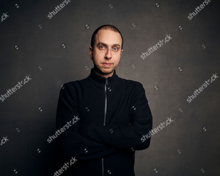 """Stock Image of Brandon Cronenberg poses for a portrait to promote the film """"Possessor"""" at the Music Lodge during the Sundance Film Festival, in Park City, Utah"""