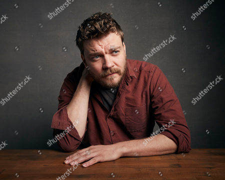 """Stock Photo of Pilou Asbaek poses for a portrait to promote the film """"Run Sweetheart Run"""" at the Music Lodge during the Sundance Film Festival, in Park City, Utah"""
