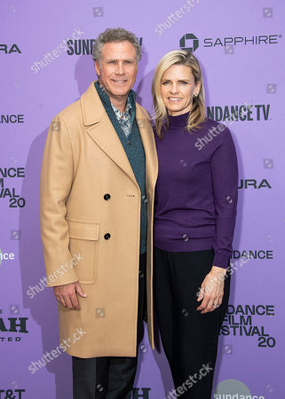 """Will Ferrell, Viveca Paulin. Actor Will Ferrell and his wife Viveca Paulin attend the premiere of """"Downhill"""" at the Eccles Theatre during the 2020 Sundance Film Festival, in Park City, Utah"""