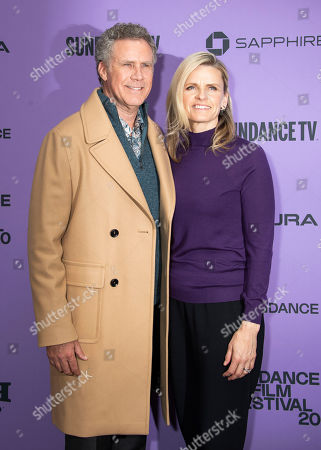 """Will Ferrell, Viveca Paulin. Actor Will Ferrell, left, and his wife Viveca Paulin attend the premiere of """"Downhill"""" at the Eccles Theatre during the 2020 Sundance Film Festival, in Park City, Utah"""