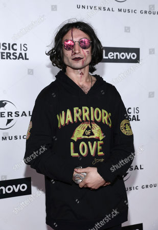 Ezra Miller attends Universal Music Group's 2020 Grammy After Party Presented By Lenovo on in Los Angeles